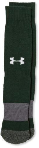 Under Armour Performance Over the Calf Socks, Forest Green, Youth Large