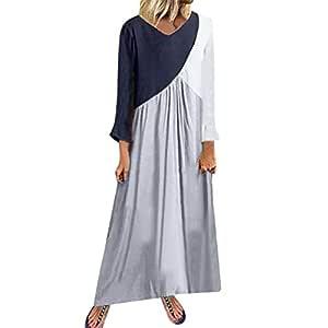 ZODOF vestidos mujer Casual vestido bohemio mujer Vestido de ...