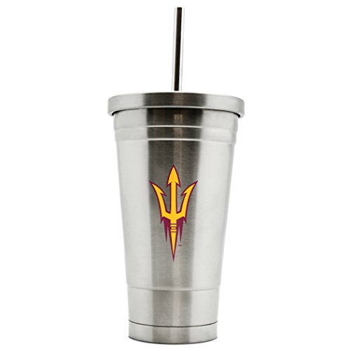 - NCAA Arizona State Sun Devils 17oz Double Wall Stainless Steel Thermo Tumbler with Straw