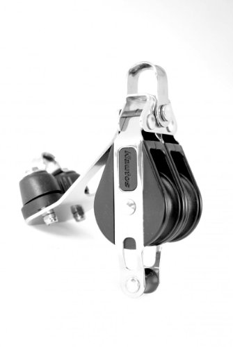 Nautos #92327-Classic line 39 MM -DOUBLE FIXED WITH CAM AND BECKET - 39 mm sheave-long lasting characteristics.Sailboat block