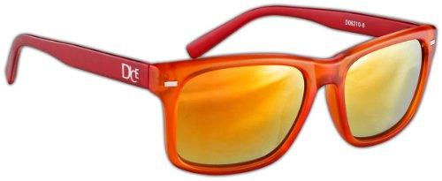 Dice Lunettes de soleil unisexe Taille unique Orange/Red