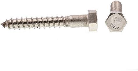 X 2 in. Grade 18-8 Stainless Steel 3//8 in Prime-Line 9056180 Hex Lag Screws 15-Pack