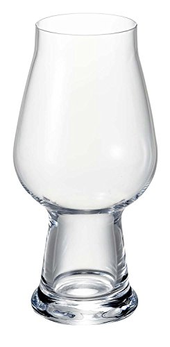 Luigi Bormioli Birrateque Craft Beer Glasses IPA/White (Set of 2), 18.25 oz, Clear by Luigi Bormioli