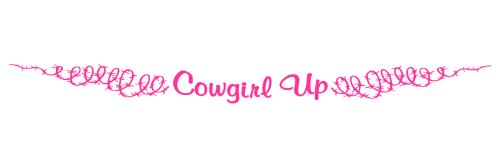 Windshield Decal - Cowgirl Up With Barbed Wire For Your Horse Trailer Pulling Truck - In PINK - 4x42 inch (Wire Barbed Decals)