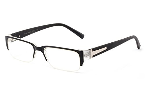Newbee Fashion - IG Unisex Clear Lens Sleek Half Frame Slim Temple Fashion - Half Lens Glasses
