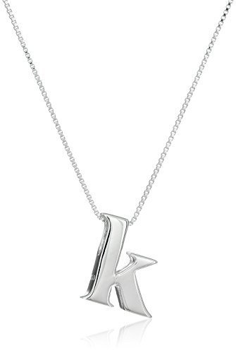 Sterling Silver Initial Pendant Necklace product image
