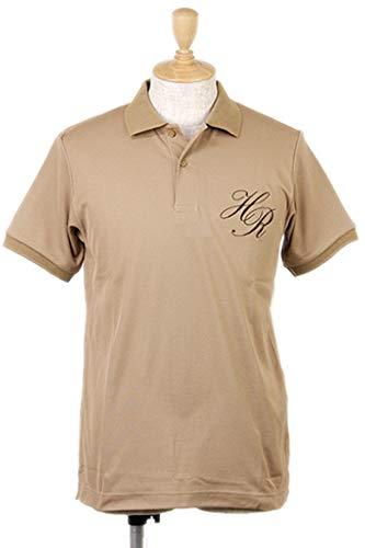 [ハリールイド] 半袖ポロシャツ 鹿の子素材 アースカラー メンズ ゴルフウェア M ベージュ(HM01708) B07P3JVDGM