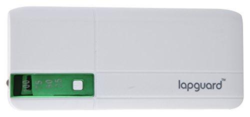 Lapguard LG515 Power Bank 10400 mAh Make In India portable Charger powerbank – White-Green