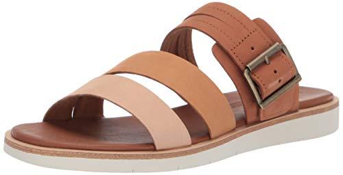 Timberland Brown Sandals - Timberland Women's Adley Shore Slide Summer Flat Sandals Brown/Multi, 6.5 Medium US