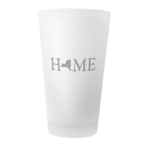CafePress - New York Home - Pint Glass, 16 oz. Drinking Glass (Party City In Albany Ny)