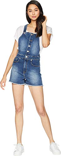 Overalls Patch (Juicy Couture Women's Juicy Banana Patch Shorts Overall Sunset Wash 2)