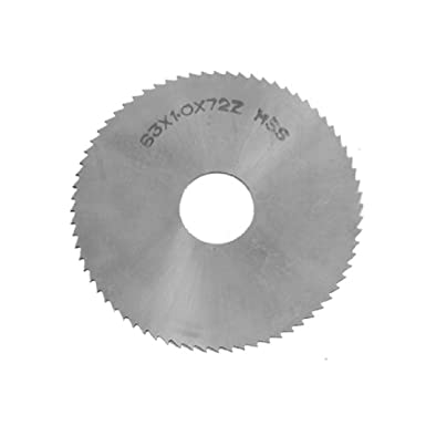 1//16 Width TiN Coating 6 Cutting Diameter Standard Cut Straight Side Tooth,MT Style 42 Teeth KEO Milling 08681 Slitting Saw HSS 1 Arbor Hole