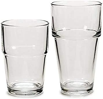 TU TENDENCIA UNICA Juego de 12 Vasos Lisos – línea Vivalto. 6 Vasos de 37 Cl y 6 Vasos de 26 Cl. Apto para lavavajillas