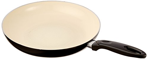 "Cook Pro 588 Professional Aluminum Frypan with Ceramic Nonstick Coating, Large/12"", Black"