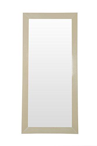 Limari Home LIM-12646 Donovan Mirror Off-White - Crocodile Textured Frame Modern Floor Mirror Champagne Color Mirror - mirrors-bedroom-decor, bedroom-decor, bedroom - 31yM4bp6X2L -