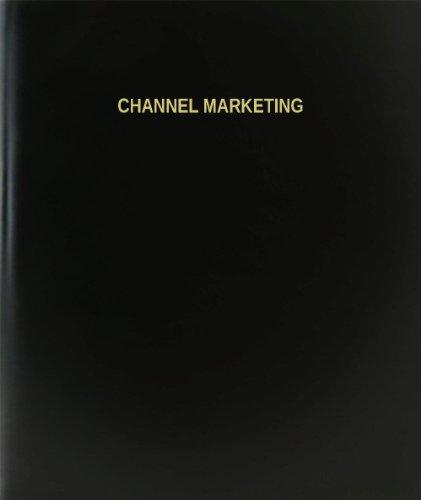 BookFactory® Channel Marketing Log Book / Journal / Logbook - 120 Page, 8.5''x11'', Black Hardbound (XLog-120-7CS-A-L-Black(Channel Marketing Log Book)) by BookFactory