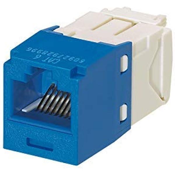 Amazon Com Panduit Cj688tgbu Mini Com Tx6 Plus Giga Channel Cat6 Jack Blue Box Of 50 Electronics
