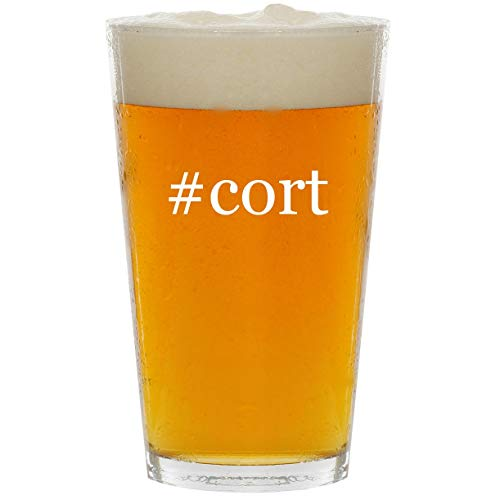 (#cort - Glass Hashtag 16oz Beer Pint )