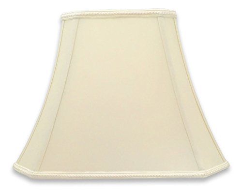 Royal Designs DSO-68-16EG Rectangle Bell Cut Corner Designer Lamp Shade-Eggshell-(6.25 x 8) x (11 x 16) x 12, 16 in....