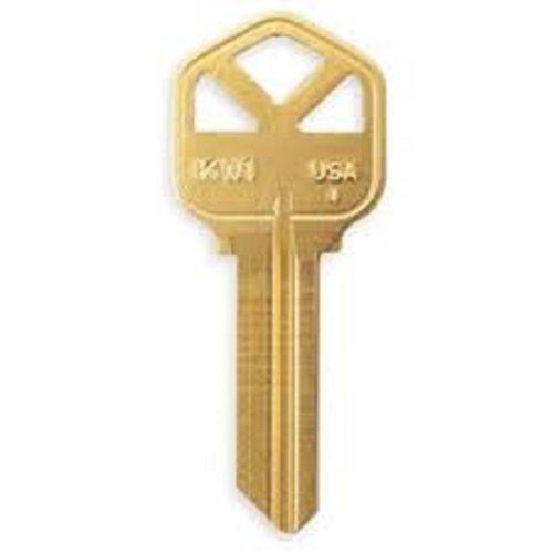Ilco Kwikset KW1 Key Blanks - Box of 250, Brass