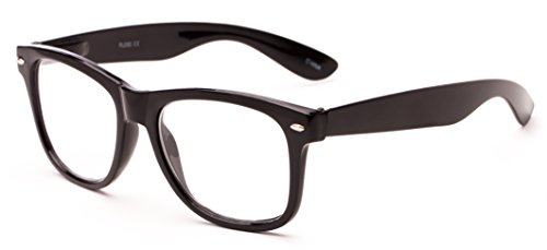 Readers.com The Dean +1.00 Black Oversized Retro Square Style for Men & Women Reading - Glasses Fashion Best