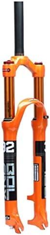 "ZCXBHD マウンテンバイクのサスペンションフォーク、屋外マグネシウム合金ショックアブソーバフロントブリッジ1-1 / 8"" 旅行フロントフォーク100ミリメートル 自転車フォーク (Size : 26inch)"