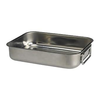 IKEA KONCIS - fuente de horno, de acero inoxidable - 26x20 cm