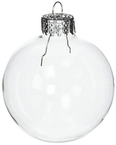 Darice Clear, Heavy Duty, Round Glass Balls - Removable Top - Can Be Painted, Embellished and Filled - Make Customized Holiday Ornaments - Perfect for Crafting and Winter Décor, 60mm (10 pieces)]()