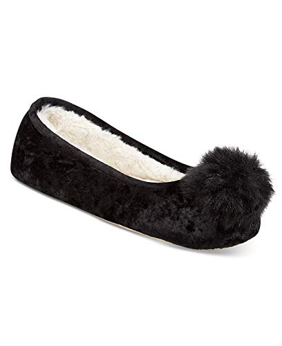Velvet INC Black International M Crushed Womens Concepts Slippers Ballerina WIrvUfIqwg