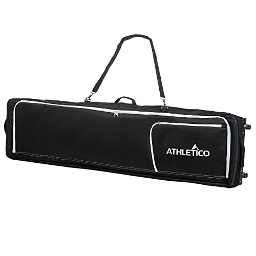 - Athletico Conquest Padded Snowboard Bag with Wheels - Travel Bag for Single Snowboard and Snowboard Boots (Black, 157 cm)