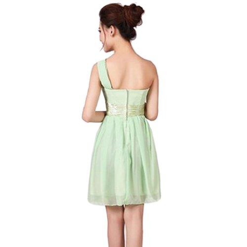 da Green sera Light Chiffon Vestito spalla da donna fAdxqTw