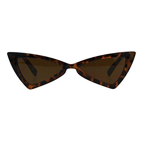 Womens Squared Triangle Gothic Retro Cat Eye Plastic 20s Sunglasses Tortoise - Sunglasses 1920s