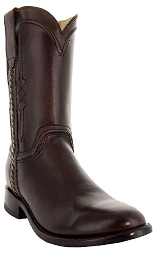 Soto Boots Men's Roper Cowboy Boots H4003 (Brown,10)