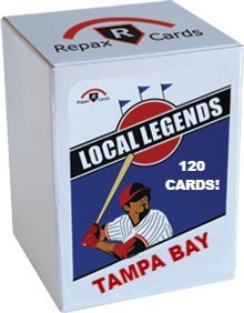 Tampa Bay Rays Local Legends Wax Box - 10 Packs of Vintage Baseball Cards, 12 Cards per Pack