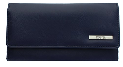 "Kenneth Cole Zipper Wallet (102522-755 Kenneth Cole Reaction Trifold Clutch ""Tri-Ed & True"" (FLEET NAVY))"