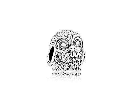 MiniJewelry Compatible with Pandora Owl Charm for Bracelets Owl Family Mother Baby Parent Sterling Silver Owl Charm for Girls Women (Baby Owl Jewelry)