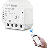 WiFi Smart Life/Tuya APP afstandsbediening, 1/2 modi, schakelaar met dimmer en led-licht, wifi, doe-het-zelf, werkt met…