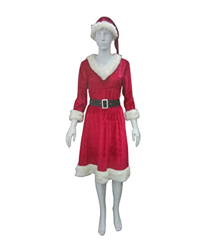 Mrs Claus Costume Images (Halloween Party Online Classic Mrs. Claus Costume, Adult (XL) HC-093)