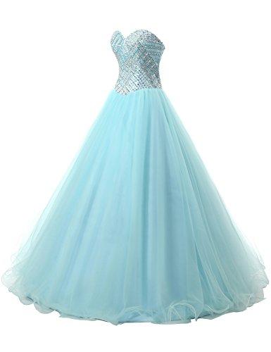 Dresstells®Vestido De Princesa Romántico Largo De Tul Escote Corazón Lila