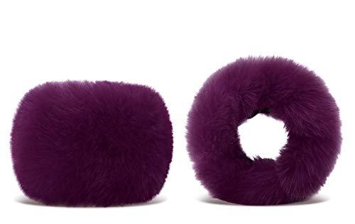 EPYA Womens Winter Cozy Warm Faux Fur Removable Wrist Cuffs