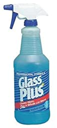 Glass Cleaner, 32 oz., Blue, PK12