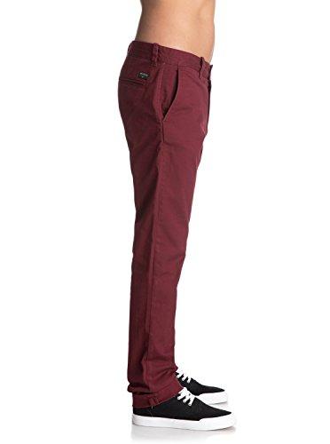 Pour Eqynp03108 Chino Krandy Pantalon Quiksilver Pomegranate Homme Slim awq4W7xg