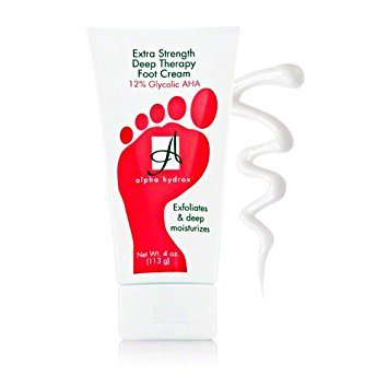 Alpha Skin Care - 12% AHA Extra Strength Deep Therapy Foot Cream, Helps Exfoliate Rough Skin - 4 oz (Pack of 2)