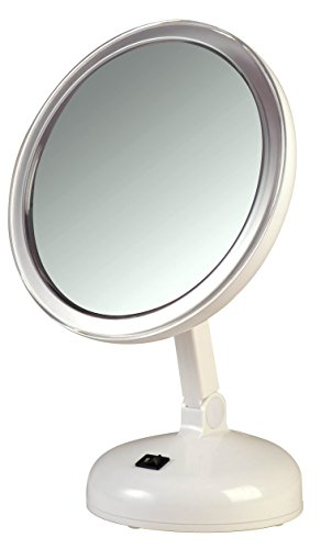 Floxite Fl 10lmm3 10x Led Lighted Mirror Mate With Suction
