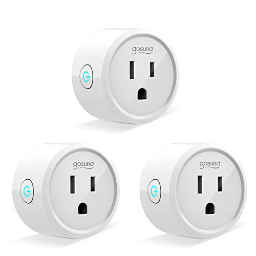 Gosund Mini Smart Plug, Wifi Enabled Outlet Socket with Timing Function, Compatible with Alexa, Google Assistant and IFTTT, Remote Control by Phone, FCC and ETL Certified(3 Pack)