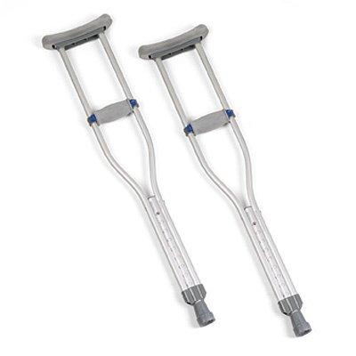 Quick-Adjust Crutches - Junior, 4' 6in - 5' 2in - 8 Pair / Case