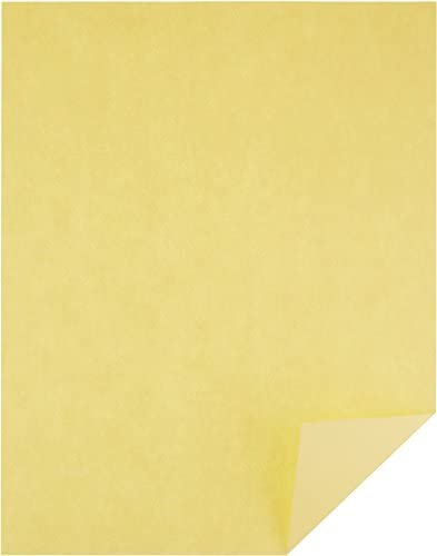Amazon Basics 50% Recycled Color Printer Paper - Yellow, 8.5 x 11 Inches, 1 Ream (500 Sheets)