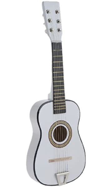 df0539072fc8d Amazon.com  Star Kids Acoustic Toy Guitar 23 Inches Color White ...