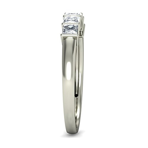 14 K Or blanc, 0.47 carat Coupe diamant (IJ | SI) en diamant