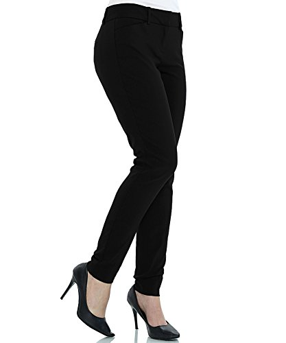 Classic Fit Boot Cut Pant - ZEFER Women's Straight Fit Trouser Pants for All Occasions Bootcut Dress Pants for Women -Work Pull on Womens Pant